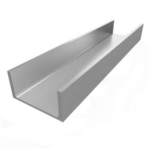 1 x 2 aluminum c channel aluminum channel 1 1 2 quot leg x 3 quot od x 3 quot id x 20 quot wall
