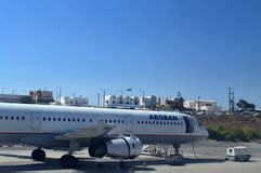 lade design low cost santorini departure easy jet editorial photography image