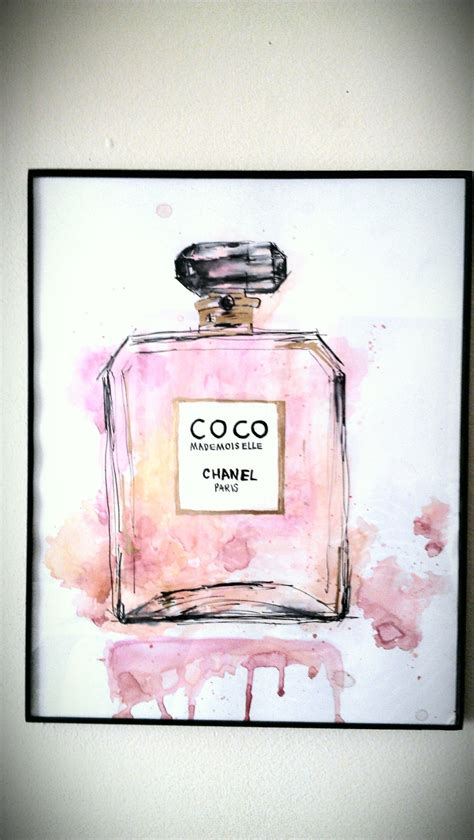 coco chanel painting gift fashion home decor