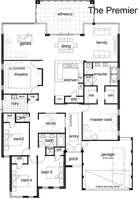 single house floor plan best 25 single storey house plans ideas on pinterest