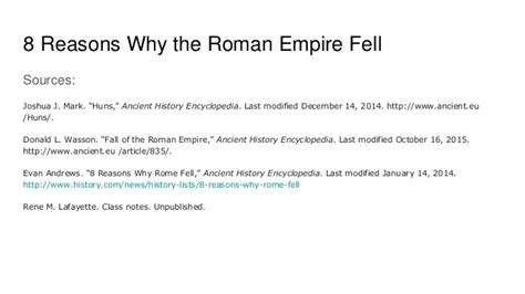 8 Reasons Why I by 8 Reasons Why The Empire Fell