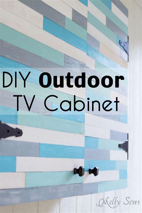 outdoor tv cabinet diy melly sews