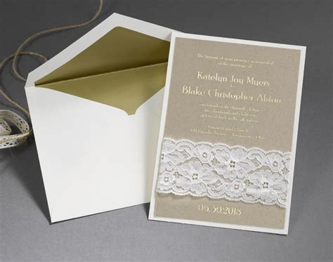 Printed Wedding Invitations Carlson by Unique Wedding Invitations With Unconventional Materials
