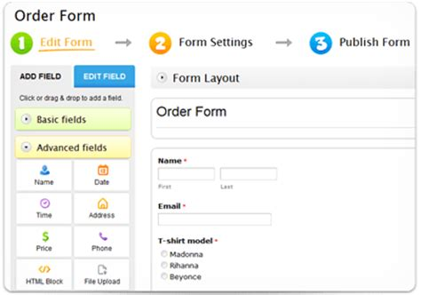 Create Online Order Forms That Really Sell 123contactform Ordering Website Template