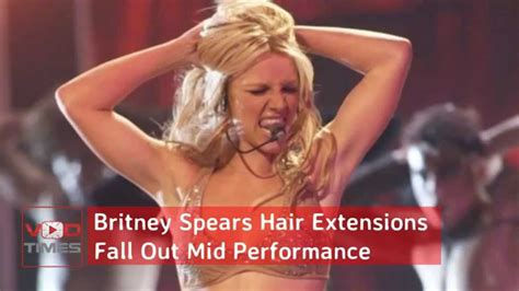 Britneys Falls Out by Hair Extensions Fall Out Mid Performance
