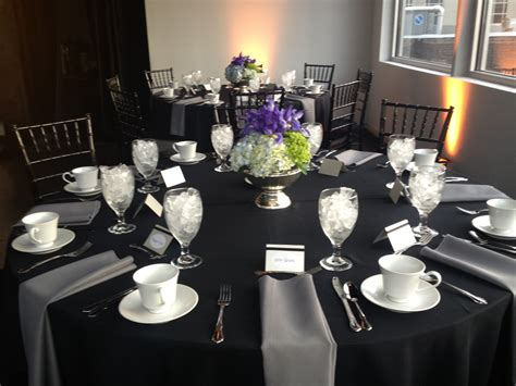 table setting for corporate event table settings