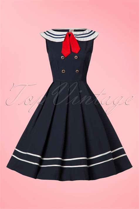 sailor swing dress patriotic 1940s inspired red white and blue dresses