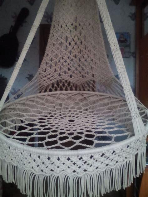 macrame swing chair macrame hanging chair hammock handmade ebay