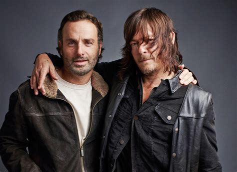 andrew lincoln tv shows andrew lincoln and norman reedus show the side of
