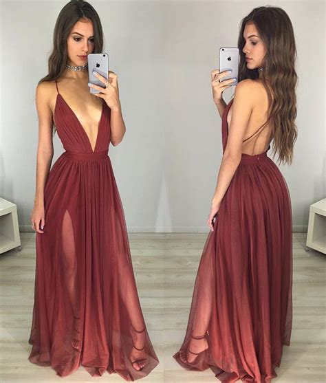hot prom themes red prom dress sexy v neck backless long prom dresses