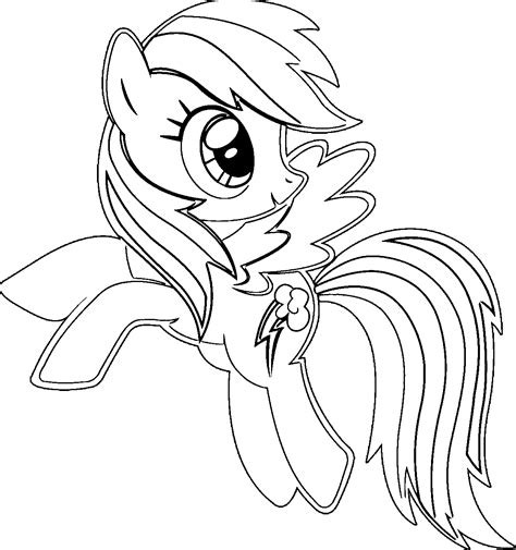 cartoon my little pony rainbow dash coloring pages
