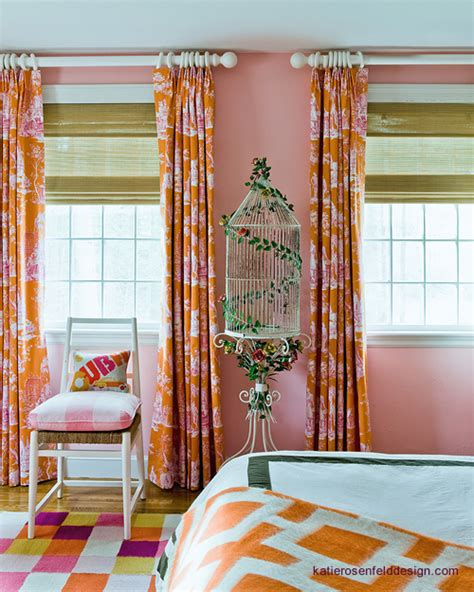 orange curtains for bedroom orange curtains contemporary girl s room katie
