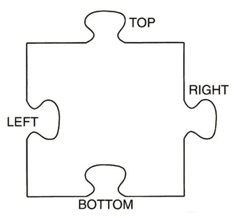 printable giant puzzle pieces printable puzzle piece template clipart best