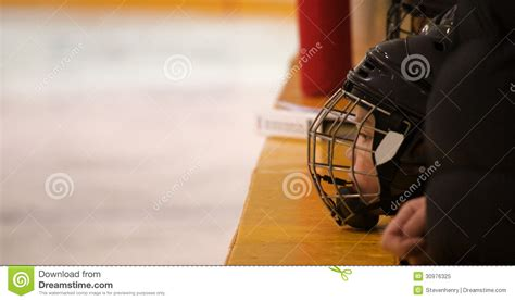 hockey player dies on the bench minor hockey player on the bench royalty free stock photo image 30976325