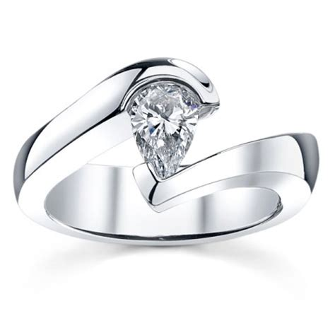 Tension Engagement Rings by Tension Engagement Ring Setting By Sareen Jewelry Tsla071w