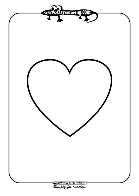 heart shape coloring page coloring pages