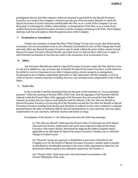 Section 502 A Erisa by Vectrus Inc Form 8 K Ex 10 01 Exhibit 10 01