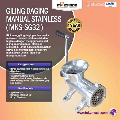 Blender Manual Di Surabaya jual giling daging manual stainless mks sg32 di surabaya