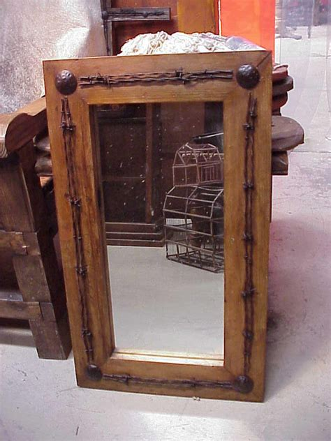 western bathroom mirrors old ranch rustic barbed wire mirror mexican 25x41 by ranchoadobe