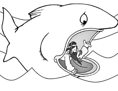 Jonah Coloring Pages For Preschool Jonah Best Free Jonah And The Big Fish Coloring Page