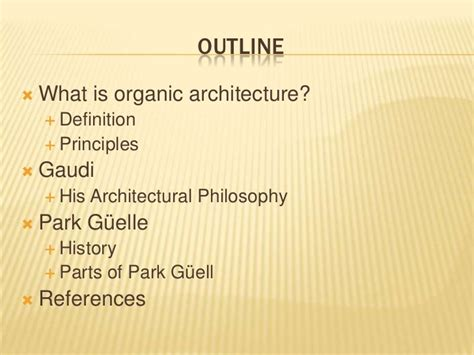 design philosophy definition organic architecture and park g 252 ell