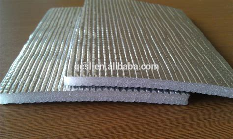 Gold Color Waterproof Laminate Flooring Foam With Aluminum
