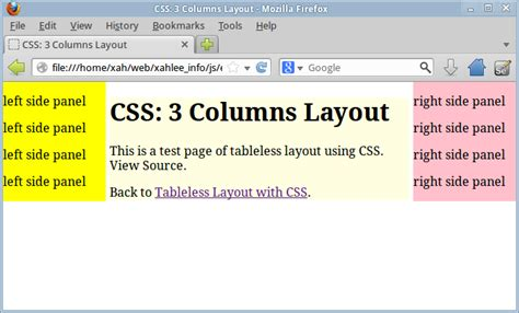 layout 3 kolom css css 3 columns page layout tutorial