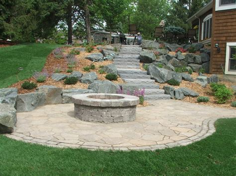 build pit on hill terraced hillside with firepit yelp