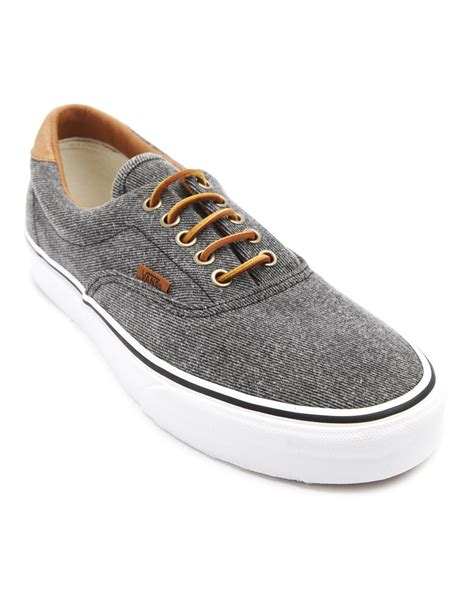 Vans Era 59 Grey vans era 59 denim washed grey sneakers in gray for lyst