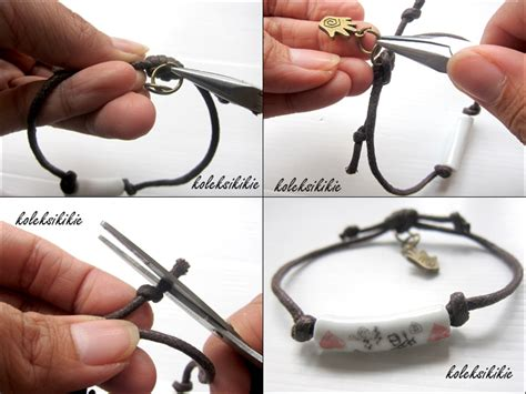tutorial buat gelang tali sepatu membuat gelang kaki koleksikikie