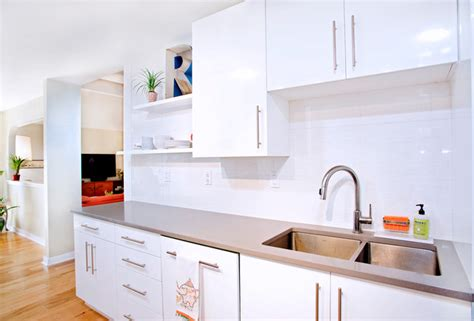 Contemporary White Kitchen Cabinets by Contemporary White High Gloss Foil Kitchen Cabinets