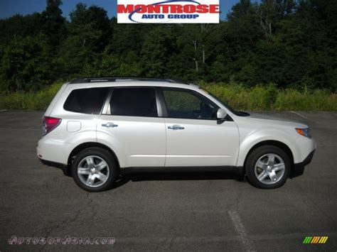 white subaru forester 2009 subaru forester 2 5 x limited in satin white pearl