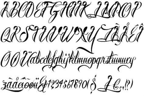 tattoo font english calligraphy scripts for tattoos lettering letter of recommendation