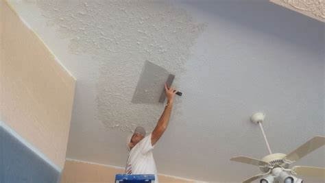 How To Paint A Ceiling With A Roller by Texture Repair