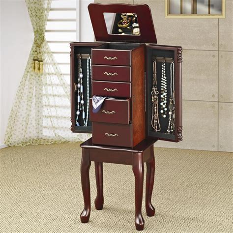 Jewelry Armoire Cherry Finish by Jewelry Armoire In Cherry Finish