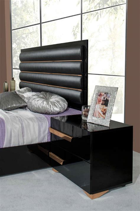 black and rose gold dresser made in italy quality modern contemporary bedroom designs