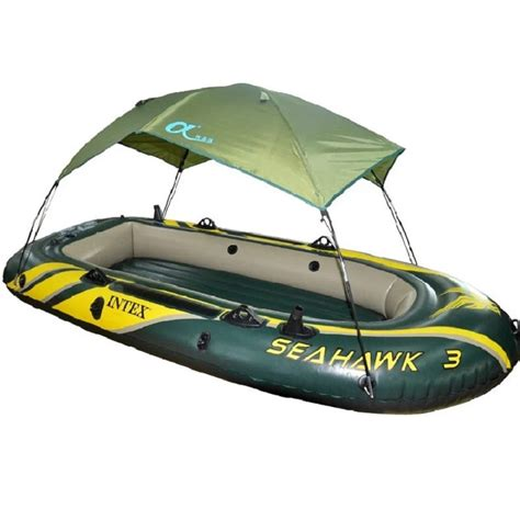 high quality intex seahawk inflatable boat tent sun