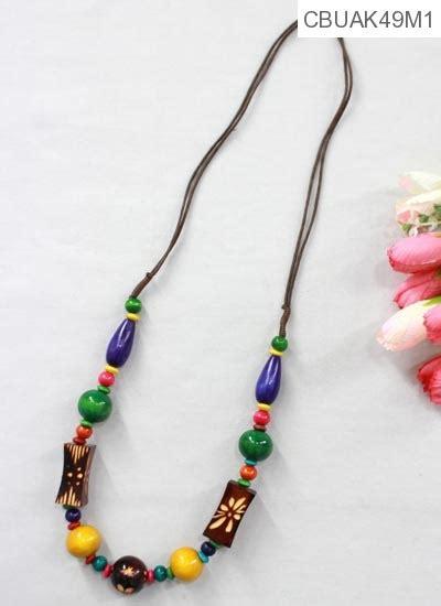 Kalung Tali Unik Murah kalung tali tarik motif kayu ukir kalung etnik murah