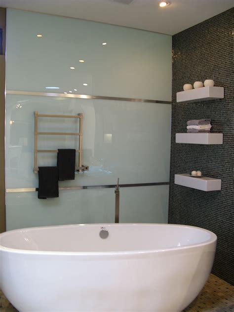 Bathroom Plastic Wall Covering - high gloss acrylic wall panels back painted glass