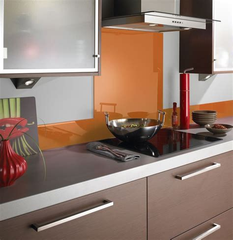 kitchen splashback designs there s nothing like a pop of orange to liven up a kitchen