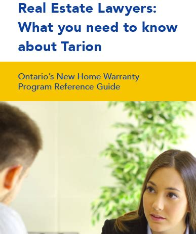 real estate lawyers what you need to about tarion