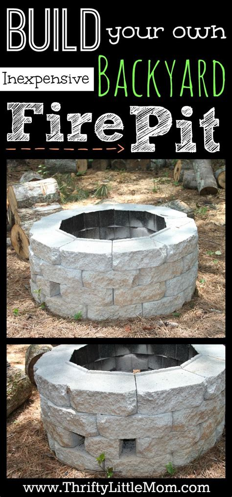 build your own firepit build your own pit woodworking projects plans