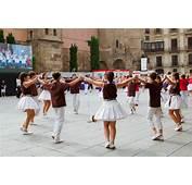 Sardana Catalan Dancing In Barcelona