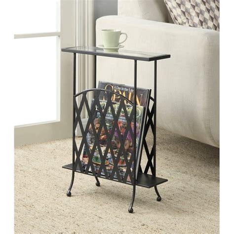 wrought iron end tables living room wrought iron glass side table in black 227145