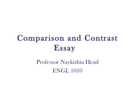 Comparison Contrast Essay Sles comparison and contrast essay 1