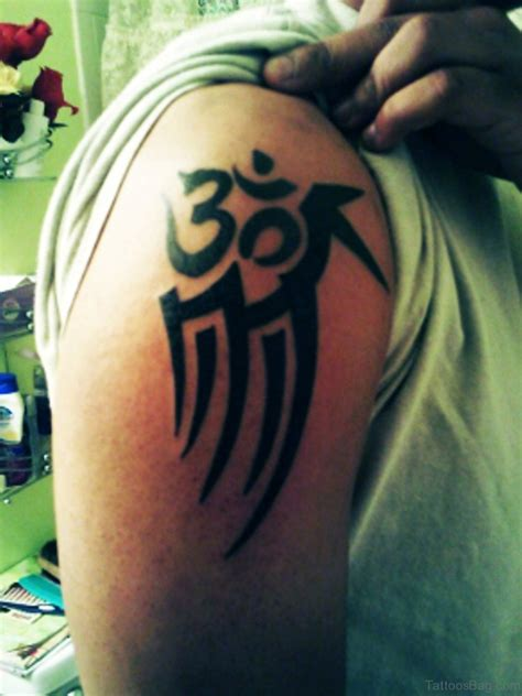 tribal om tattoo 50 looking om tattoos for shoulder