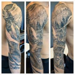 tree sleeve tattoo west coast trees sleeve by teems black label tattoos