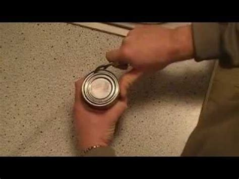 how to use can opener how to use a knife s can opener