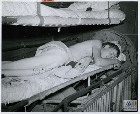 Navy Sleeping Racks by The Digital Collections Of The National Wwii Museum