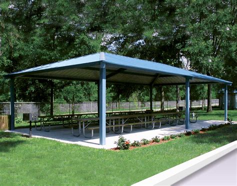 metall pavillon all steel single roof summerset rectangle pavilions